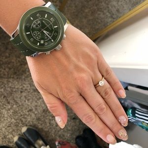 MICHAEL Michael Kors Accessories - Chunky Michael Kors Army Green Watch